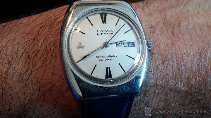 Relojes automáticos: Antiguo reloj Cyma automático Conquistador by Synchron - Foto 3 - 43377082