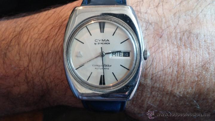 Relojes automáticos: Antiguo reloj Cyma automático Conquistador by Synchron - Foto 8 - 43377082