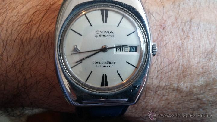 Relojes automáticos: Antiguo reloj Cyma automático Conquistador by Synchron - Foto 9 - 43377082
