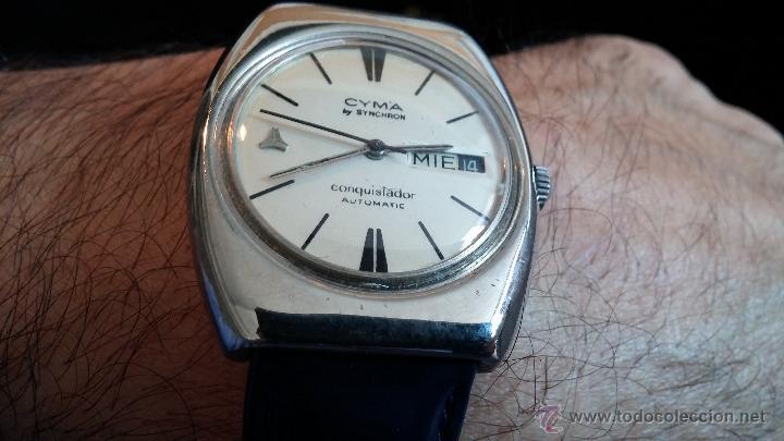 Relojes automáticos: Antiguo reloj Cyma automático Conquistador by Synchron - Foto 10 - 43377082