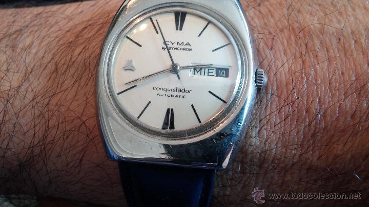Relojes automáticos: Antiguo reloj Cyma automático Conquistador by Synchron - Foto 11 - 43377082