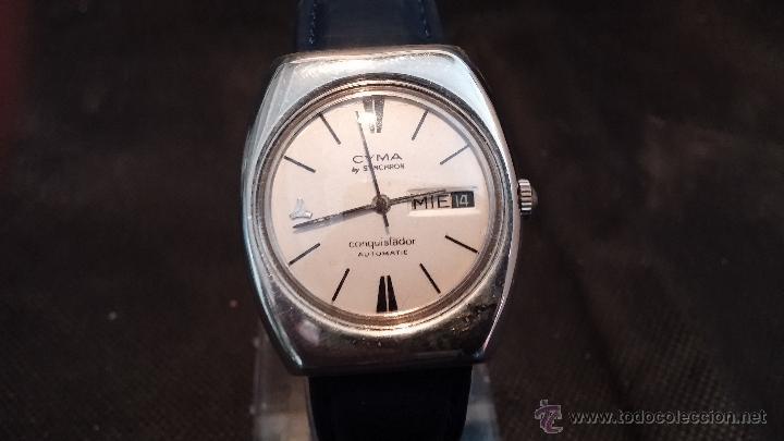 Relojes automáticos: Antiguo reloj Cyma automático Conquistador by Synchron - Foto 22 - 43377082