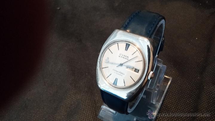 Relojes automáticos: Antiguo reloj Cyma automático Conquistador by Synchron - Foto 24 - 43377082