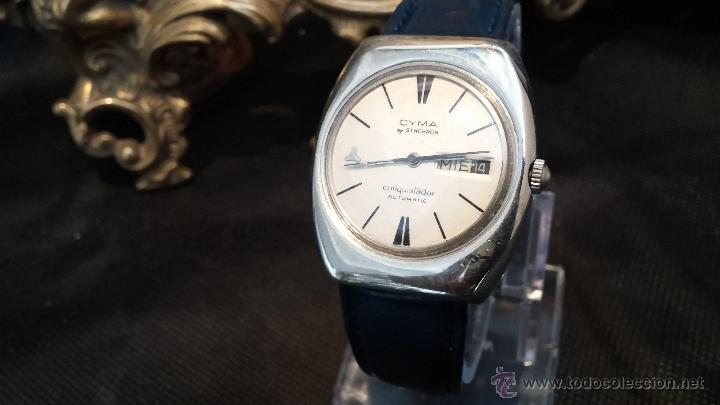 Relojes automáticos: Antiguo reloj Cyma automático Conquistador by Synchron - Foto 25 - 43377082