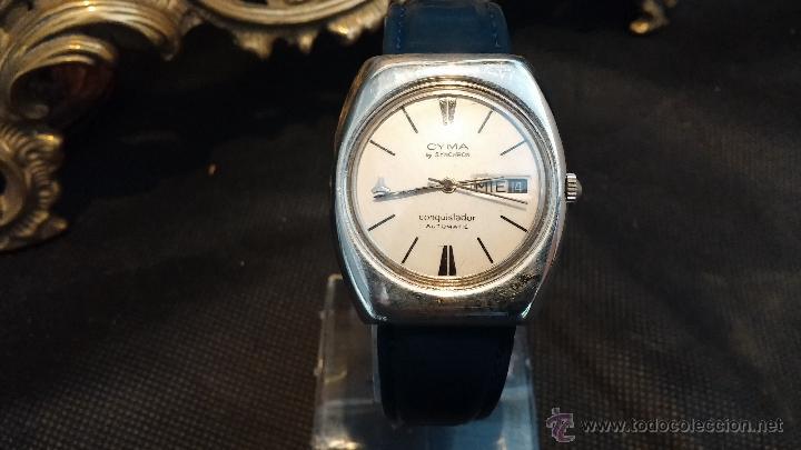 Relojes automáticos: Antiguo reloj Cyma automático Conquistador by Synchron - Foto 26 - 43377082