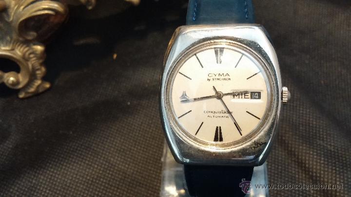 Relojes automáticos: Antiguo reloj Cyma automático Conquistador by Synchron - Foto 27 - 43377082