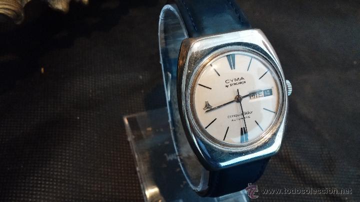 Relojes automáticos: Antiguo reloj Cyma automático Conquistador by Synchron - Foto 28 - 43377082