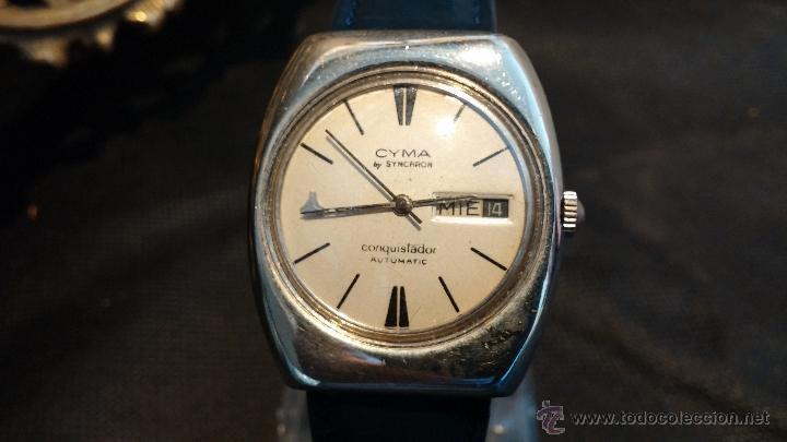 Relojes automáticos: Antiguo reloj Cyma automático Conquistador by Synchron - Foto 30 - 43377082