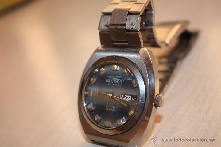 Relojes automáticos: RELOJ MARCA **VANROY AUTOMATIC 25 JEWELS INCABLOC**FUNCIONA PERFECTO - Foto 2 - 43438197