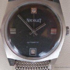 Relojes automáticos: NICOLET RELOJ PARA HOMBRE, AUTOMÁTICO, VINTAGE, USADO, ESTILO VESTIR. Lote 43522640