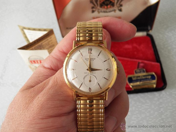 Relojes automáticos: reloj winthrop caja omega es de pila(chapado de la caja 20 micras) - Foto 2 - 44670663