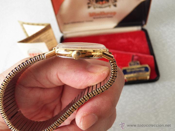 Relojes automáticos: reloj winthrop caja omega es de pila(chapado de la caja 20 micras) - Foto 4 - 44670663