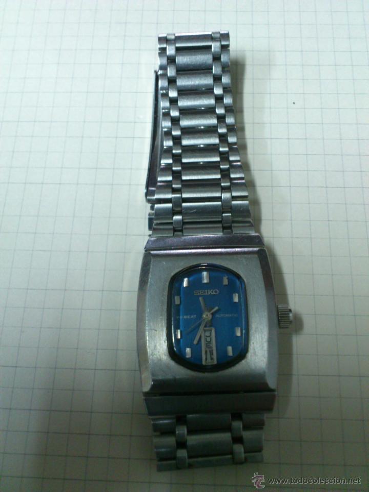 RELOJ SEIKO SEÑORA AÑOS 50-60 AUTOMATICO FUNCIONA. CALENDARIO HI BEAT JEWELS JAPAN (Relojes - Relojes Automáticos)