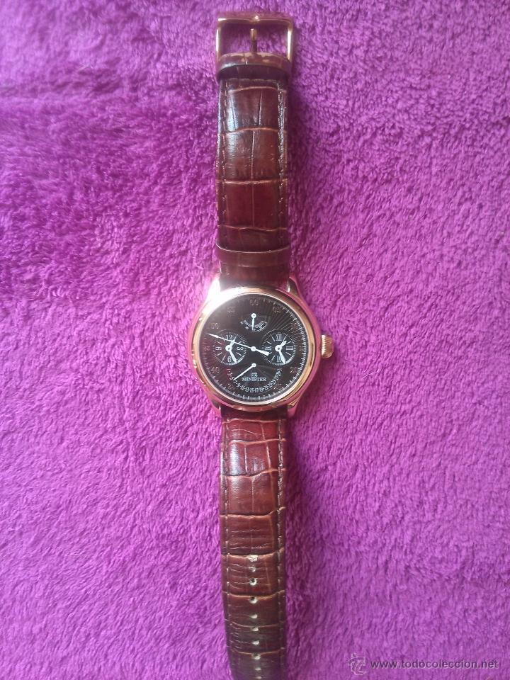 Relojes automáticos: Reloj automático Minister prácticamente nuevo. Placado en oro - Foto 2 - 47067114