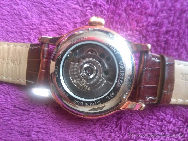 Relojes automáticos: Reloj automático Minister prácticamente nuevo. Placado en oro - Foto 3 - 47067114