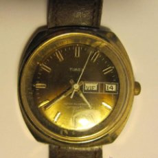 Relojes automáticos: RELOJ DE PULSERA TIMEX. WATTER RESISTANT AUTOMATIC DIAM. ESFERA 3,5 CM. CORREA DE CUERO. Lote 47370922