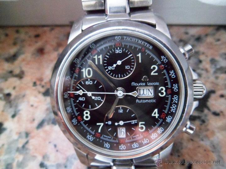 582435da44d0 Reloj Hombre en Acero  Maurice Lacroix con cristal de Zarifo. TACHYMETER  AUTOMATIC