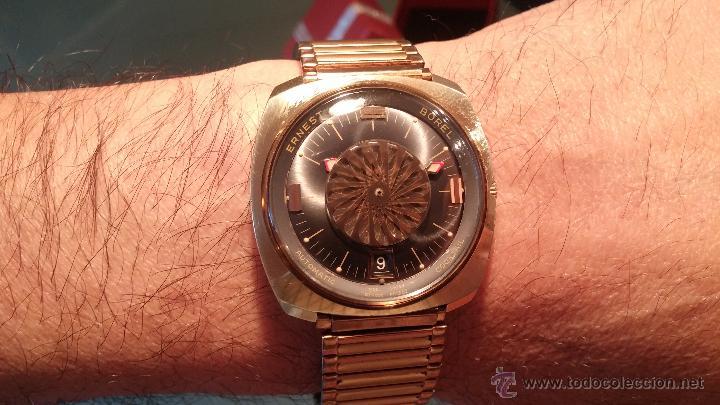 Relojes automáticos: BELLO CONJUNTO DE RELOJ AUTOMÁTICO ERNEST BOREL Y SELLO DE ORO A JUEGO - Foto 32 - 48467413