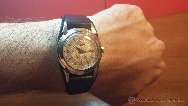 Relojes automáticos: Reloj de los primeros Longines automático de caballero del año 1952, calibre 19as - Foto 2 - 66126494
