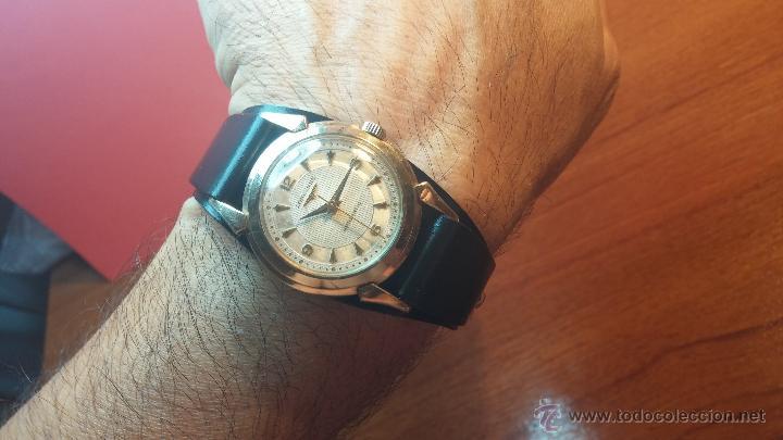 Relojes automáticos: Reloj de los primeros Longines automático de caballero del año 1952, calibre 19as - Foto 4 - 66126494