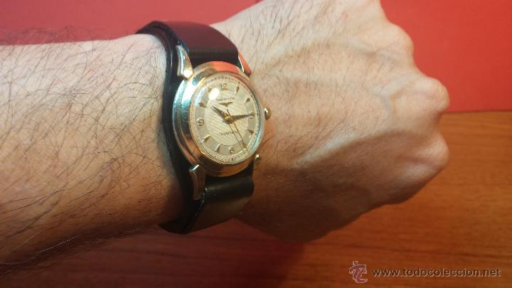 Relojes automáticos: Reloj de los primeros Longines automático de caballero del año 1952, calibre 19as - Foto 7 - 66126494