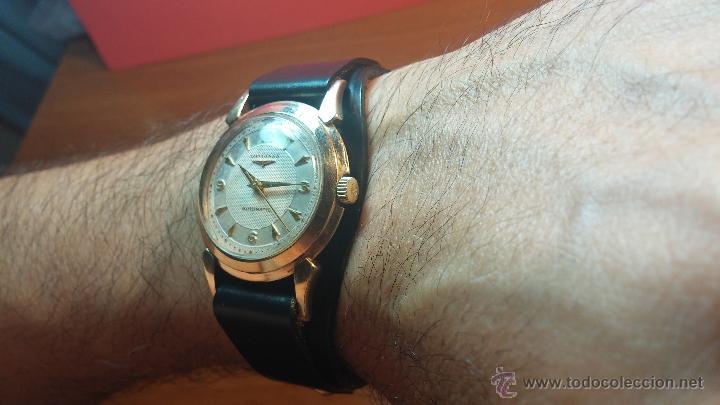 Relojes automáticos: Reloj de los primeros Longines automático de caballero del año 1952, calibre 19as - Foto 8 - 66126494
