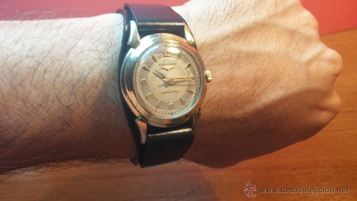Relojes automáticos: Reloj de los primeros Longines automático de caballero del año 1952, calibre 19as - Foto 10 - 66126494
