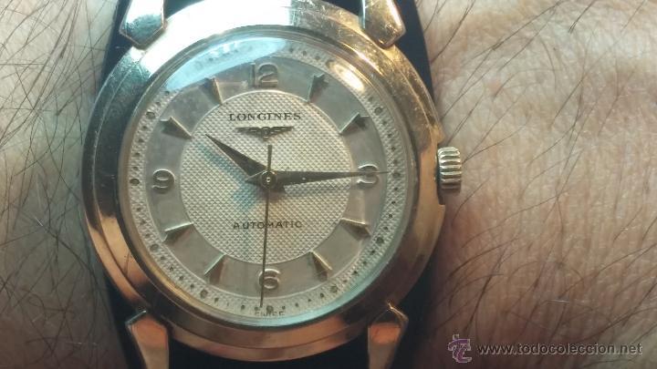 Relojes automáticos: Reloj de los primeros Longines automático de caballero del año 1952, calibre 19as - Foto 12 - 66126494