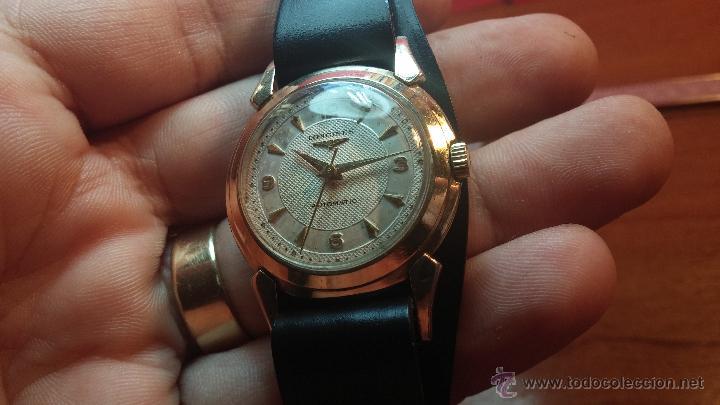Relojes automáticos: Reloj de los primeros Longines automático de caballero del año 1952, calibre 19as - Foto 13 - 66126494