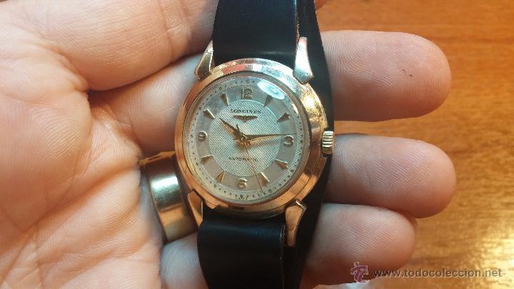 Relojes automáticos: Reloj de los primeros Longines automático de caballero del año 1952, calibre 19as - Foto 14 - 66126494