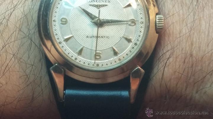 Relojes automáticos: Reloj de los primeros Longines automático de caballero del año 1952, calibre 19as - Foto 17 - 66126494
