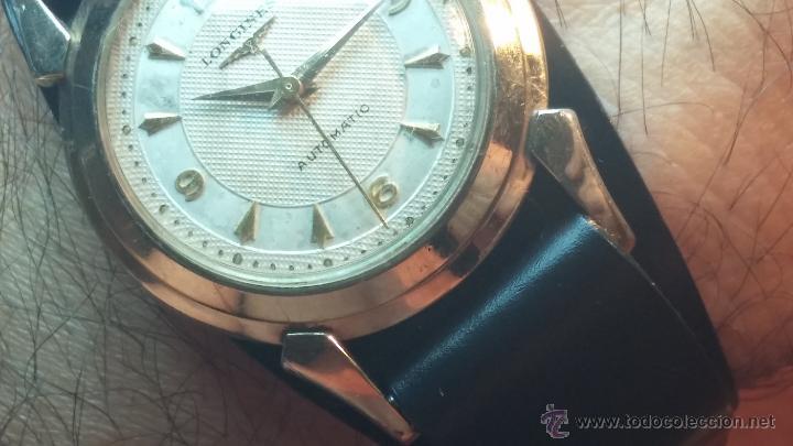 Relojes automáticos: Reloj de los primeros Longines automático de caballero del año 1952, calibre 19as - Foto 18 - 66126494