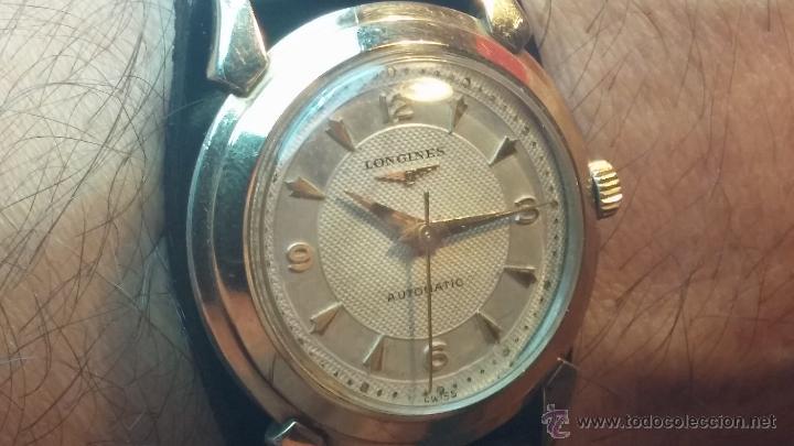 Relojes automáticos: Reloj de los primeros Longines automático de caballero del año 1952, calibre 19as - Foto 19 - 66126494