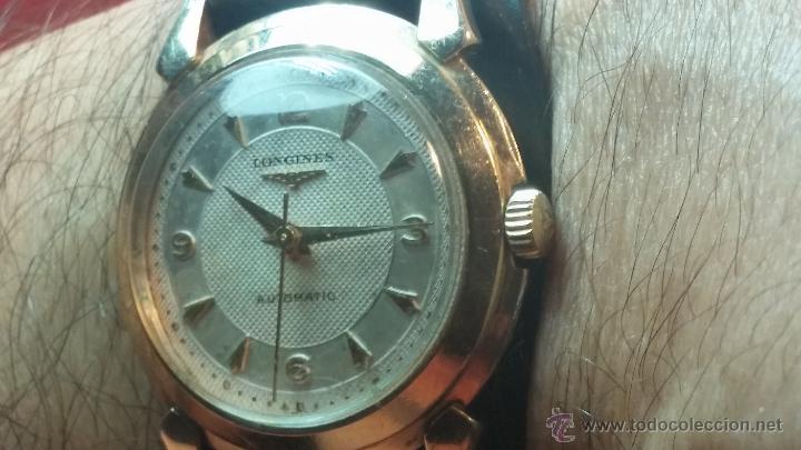 Relojes automáticos: Reloj de los primeros Longines automático de caballero del año 1952, calibre 19as - Foto 20 - 66126494