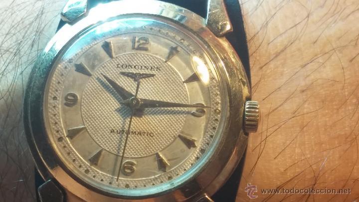 Relojes automáticos: Reloj de los primeros Longines automático de caballero del año 1952, calibre 19as - Foto 22 - 66126494