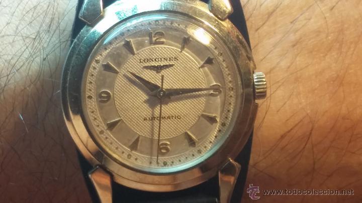 Relojes automáticos: Reloj de los primeros Longines automático de caballero del año 1952, calibre 19as - Foto 23 - 66126494