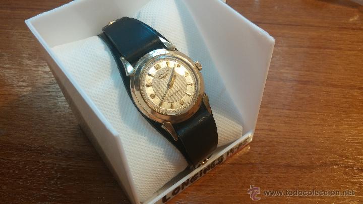 Relojes automáticos: Reloj de los primeros Longines automático de caballero del año 1952, calibre 19as - Foto 25 - 66126494