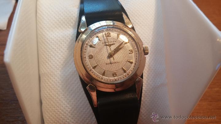 Relojes automáticos: Reloj de los primeros Longines automático de caballero del año 1952, calibre 19as - Foto 26 - 66126494