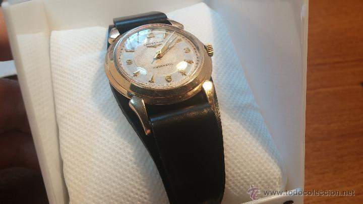 Relojes automáticos: Reloj de los primeros Longines automático de caballero del año 1952, calibre 19as - Foto 27 - 66126494