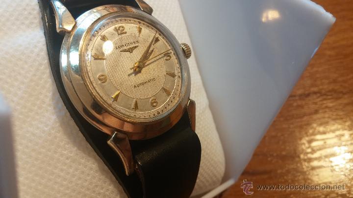 Relojes automáticos: Reloj de los primeros Longines automático de caballero del año 1952, calibre 19as - Foto 29 - 66126494