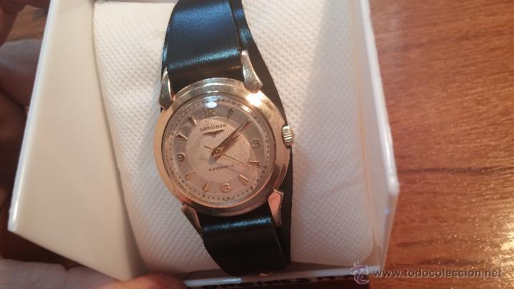 Relojes automáticos: Reloj de los primeros Longines automático de caballero del año 1952, calibre 19as - Foto 30 - 66126494