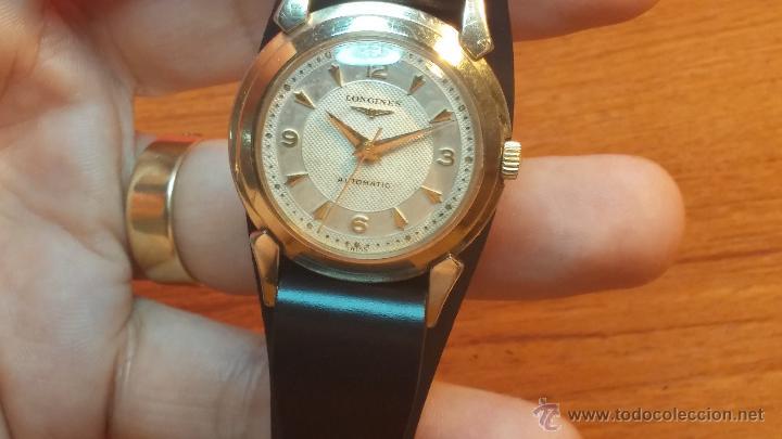 Relojes automáticos: Reloj de los primeros Longines automático de caballero del año 1952, calibre 19as - Foto 33 - 66126494