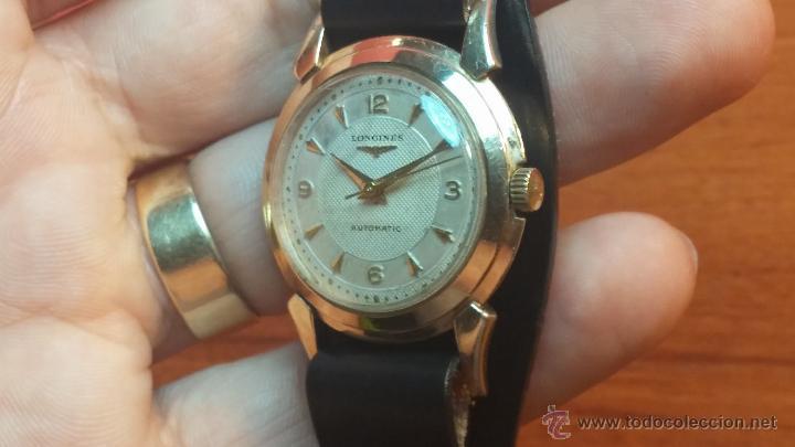 Relojes automáticos: Reloj de los primeros Longines automático de caballero del año 1952, calibre 19as - Foto 35 - 66126494