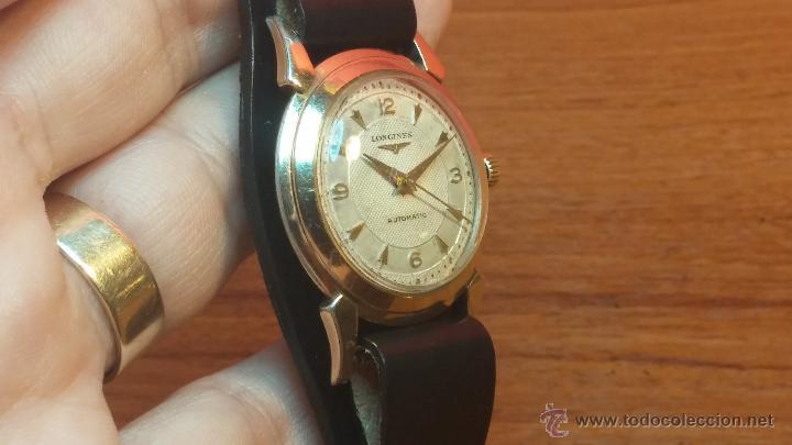 Relojes automáticos: Reloj de los primeros Longines automático de caballero del año 1952, calibre 19as - Foto 38 - 66126494