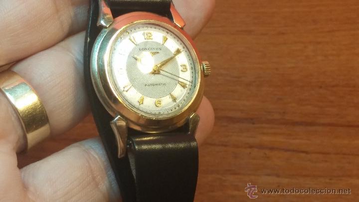 Relojes automáticos: Reloj de los primeros Longines automático de caballero del año 1952, calibre 19as - Foto 39 - 66126494