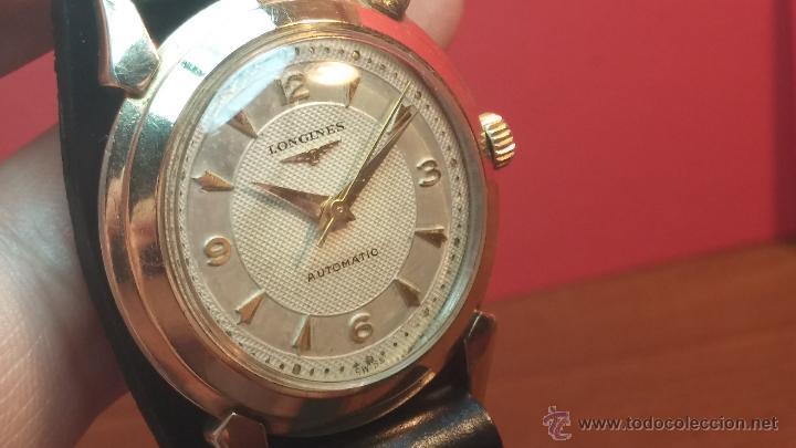Relojes automáticos: Reloj de los primeros Longines automático de caballero del año 1952, calibre 19as - Foto 41 - 66126494