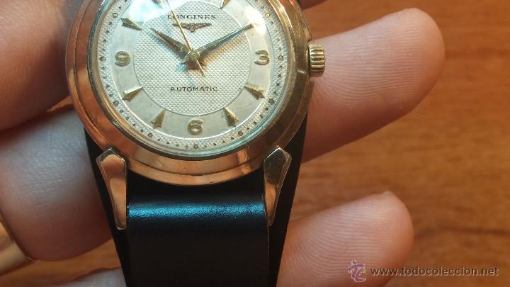 Relojes automáticos: Reloj de los primeros Longines automático de caballero del año 1952, calibre 19as - Foto 44 - 66126494