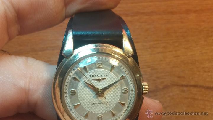 Relojes automáticos: Reloj de los primeros Longines automático de caballero del año 1952, calibre 19as - Foto 45 - 66126494