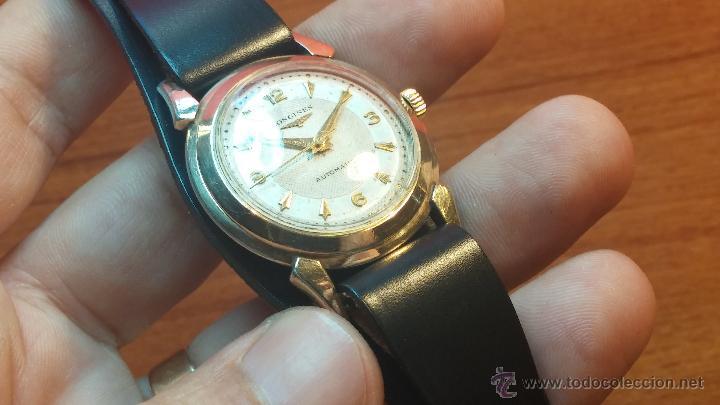 Relojes automáticos: Reloj de los primeros Longines automático de caballero del año 1952, calibre 19as - Foto 51 - 66126494