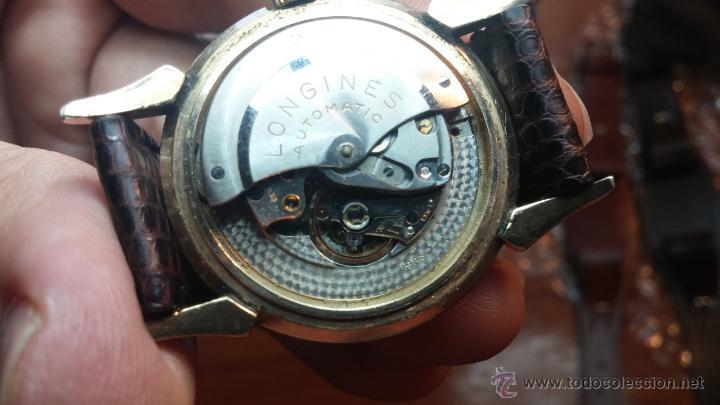 Relojes automáticos: Reloj de los primeros Longines automático de caballero del año 1952, calibre 19as - Foto 56 - 66126494